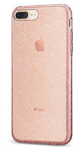 Spigen Liquid Crystal [2nd Generation] iPhone 8 Plus Case / iPhone 7 Plus Case with Premium Clarity for Apple iPhone 8 Plus (2017) / iPhone 7 Plus (2016) - Glitter Rose Quartz
