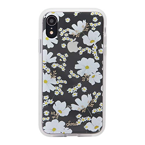 iPhone XR, Sonix Ditsy Daisy (White Flowers) Cell Phone Case [Military Drop Test Certified] Women's Protective Clear Case for Apple iPhone (6.1