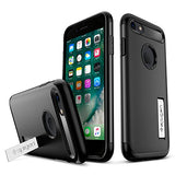 Spigen Slim Armor iPhone 7 / iPhone 8 Case with Kickstand and Air Cushion Technology Hybrid Drop Protection for Apple iPhone 7 (2016) / iPhone 8 (2017) - Black