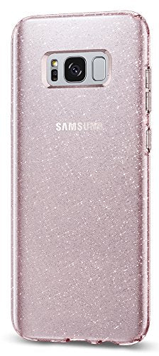 Spigen Liquid Crystal Glitter Galaxy S8 Case with Slim Protection and Premium Clarity for Samsung Galaxy S8 (2017) - Rose Quartz