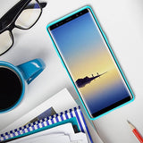 Note 8 Case, Trianium Clarium Series For Samsung Galaxy Note8 Case Clear Hybrid Cover [Scratch Resistant] Ergonomic Cushion Shock-Absorbing TPU Bumper + PC Hard Back Panel - Blue/Clear