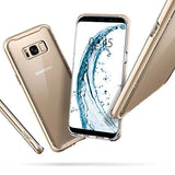 Spigen Neo Hybrid Crystal Galaxy S8 Plus Case with Clear Hard Casing and Reinforced Hard Bumper Frame for Galaxy S8 Plus (2017) - Maple Gold