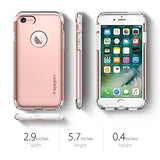 Spigen Hybrid Armor iPhone 7 Case with Air Cushion Technology and Hybrid Drop Protection for Apple iPhone 7 (2016) - Rose Gold
