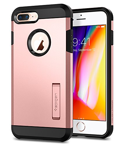 finest selection 34917 cc76e Spigen Tough Armor [2nd Generation] iPhone 8 Plus Case / iPhone 7 Plus Case  with Kickstand Air Cushion Technology for Apple iPhone 8 Plus (2017) / ...