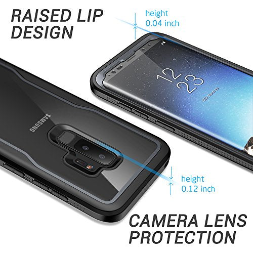 newest 70448 43785 Galaxy S9+ Plus Case, YOUMAKER Crystal Clear with Built-in Screen Protector  Full-body Heavy Duty Protection Slim Fit Shockproof Case Cover for Samsung  ...