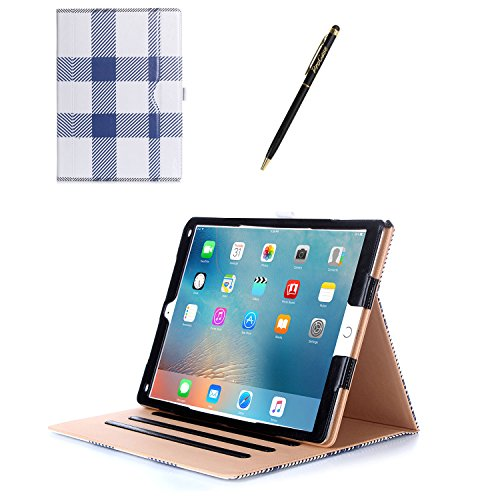 sale retailer d7266 9e3e9 Apple iPad Pro 12.9 Case - ProCase Leather Stand Folio Case Cover for iPad  Pro 12.9 Inch (Both 2017 and 2015 Models), with Multiple Viewing Angles, ...