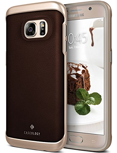 Galaxy S7 Case, Caseology [Envoy Series] Classic Rich Texture Leather [Leather Brown] [Luxury Slim] for Samsung Galaxy S7 (2016)