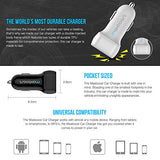 Car Charger, Maxboost 4.8A/24W 2 USB Smart Port Car Charger [White/Grey] for iPhone 7 6S Plus 6 Plus 6 5SE 5S 5 5C,Galaxy S8 S7 S6 Edge, Note 8 4 S5,LG G6 G5 G4,HTC,Nexus 5X 6P,iPad Pro Portable