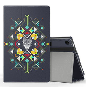MoKo Case for All-New Amazon Fire HD 8 Tablet (7th Generation, 2017 Release Only) - Slim Folding Stand Cover for Fire HD 8, Wolf Totem (with Auto Wake / Sleep)