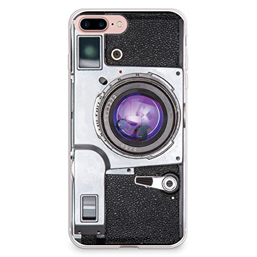 iPhone 8 Plus Case, iPhone 7 Plus Case, CasesByLorraine Vintage Style Camera Flexible TPU Soft Gel Protective Cover for Apple iPhone 7 Plus & iPhone 8 Plus (A96)