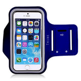 Tribe Sports Water Resistant Armband with Screen Protector and Key Holder for iPhone 6S / 5 / 5S / 5C and Galaxy S4 – Dark Blue