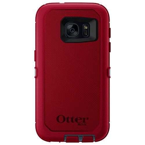 OtterBox DEFENDER SERIES Case for Samsung Galaxy S7 - Retail Packaging - REGAL (TEMPEST BLUE/FLAME RED)