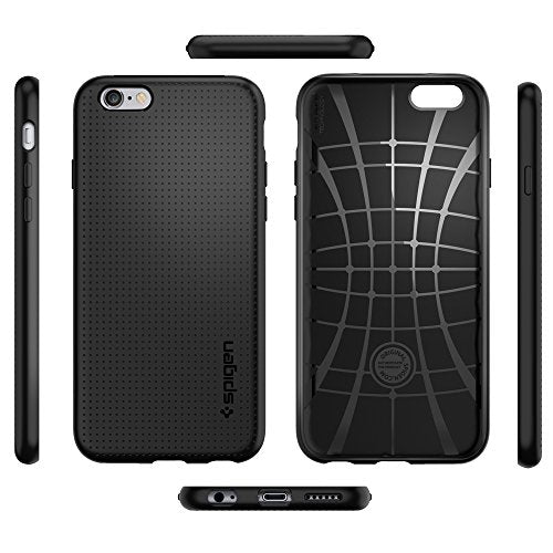 low priced c1c28 6a1a0 Spigen Liquid Air iPhone 6 Case with Durable Flex and Easy Grip Design for  iPhone 6S / iPhone 6 - Black