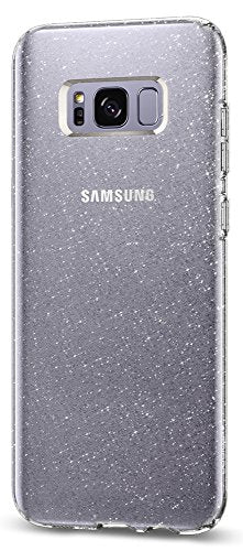Spigen Liquid Crystal Glitter Galaxy S8 Plus Case with Slim Protection and Premium Clarity for Galaxy S8 Plus (2017) - Crystal Quartz