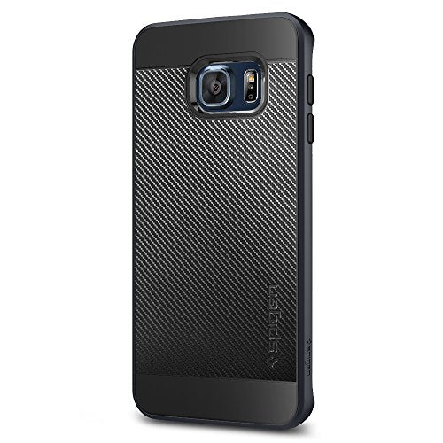 Spigen Neo Hybrid Carbon Galaxy S6 Edge Plus Case with Carbon Fiber Design and Reinforced Hard Bumper Frame for Galaxy S6 Edge Plus 2015 - Metal Slate