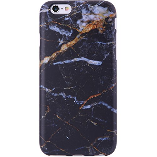 iPhone 6 Case,iPhone 6s Case Marble Black Gold, VIVIBIN Shock Absorption Anti Scratch IMD Soft TPU Silicon Gel Protective Cover Case for Regula iPhone 6 / iPhone 6s - 4.7