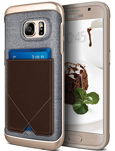 Galaxy S7 Case, Caseology [Messenger Series] Genuine Leather Pocket [Brown] [Card Case] for Samsung Galaxy S7 (2016) - Brown