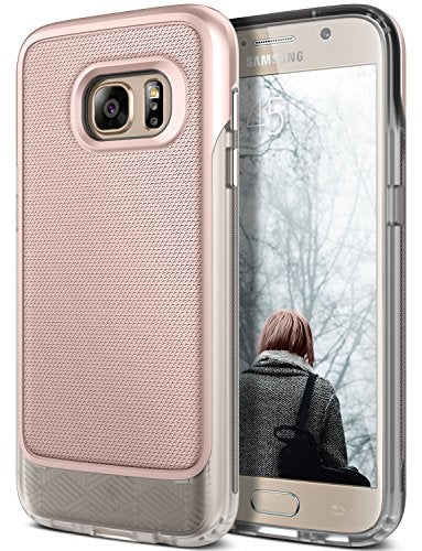 Galaxy S7 Case, Caseology [Vault Series] Metallic Mesh Slim Bodyguard [Rose Gold / Frost Clear] [Hybrid Armor] for Samsung Galaxy S7 (2016)