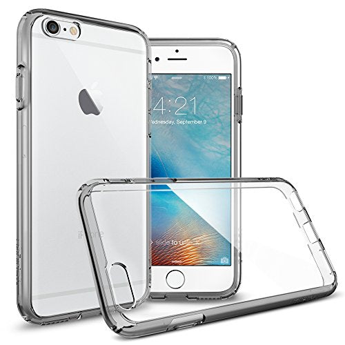 sale retailer 45988 6e3b4 Spigen Ultra Hybrid iPhone 6S Case with Air Cushion Technology and Hybrid  Drop Protection for iPhone 6S / iPhone 6 - Space Crystal