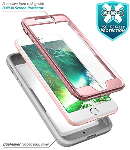 buy popular cbf7c f51ad iPhone 8 Plus Case, iPhone 7 Plus case, i-Blason [Heavy Duty Protection]  [Magma Series] Shock Reduction/Full body Bumper Case with Built-in Screen  ...