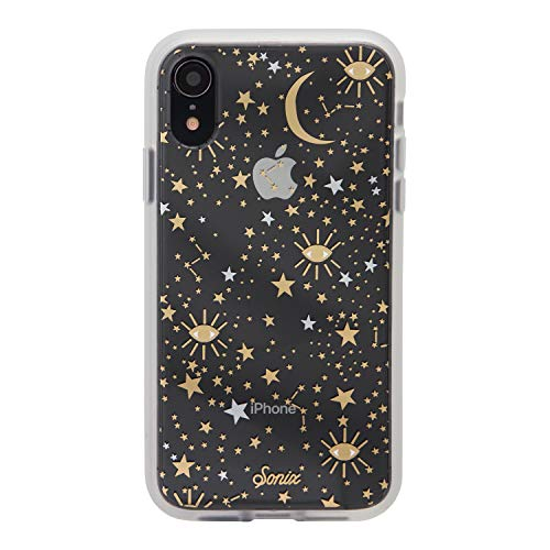 iPhone XR, Sonix Cosmic (Gold, Silver, Stars) Cell Phone Case [Military Drop Test Certified] Protective Clear Case for Apple iPhone (6.1