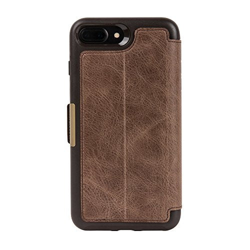 pretty nice 5e7a2 7ffbd OtterBox STRADA SERIES Case for iPhone 8 Plus & iPhone 7 Plus (ONLY) -  Retail Packaging - ESPRESSO (DARK BROWN/WORN BROWN LEATHER)