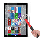 New Surface Pro 2017 / Surface Pro 4 Screen Protector - OMOTON [High Responsivity] [Scratch Resistant] [Bubble ] [High Definition] Tempered Glass Screen Protector