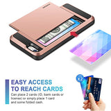 iPhone 6S Case, Vofolen Impact Resistant Hybrid iPhone 6 Wallet Case Protective Shell Shockproof Rugged Rubber Bumper Anti-scratch Hard Cover Skin Card Holder for iPhone 6 6S 4.7 inch - Rose Gold