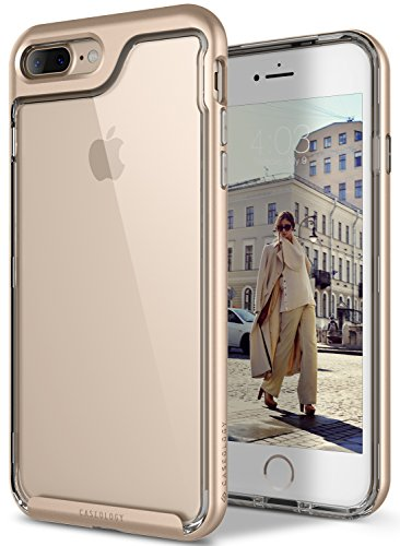 iPhone 7 Plus Case, Caseology [Skyfall Series] Transparent Clear Slim Scratch Resistant Cover Drop Protection for Apple iPhone 7 Plus (2016) - Gold