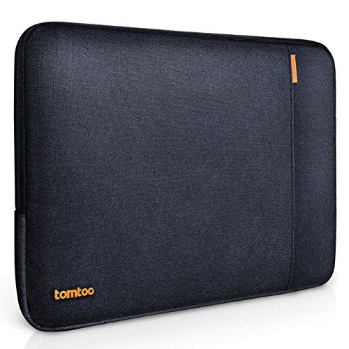 Tomtoc 360° Protective Laptop Sleeve for 15 Inch MacBook Pro Retina 2012-2015, Shockproof, Spill-Resistant 15 Inch Ultrabook Netbook Tablet Case Cover, Black Blue