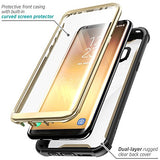 Samsung Galaxy S8+ Plus case, i-Blason Full-body Rugged Clear Bumper Case with Built-in Screen Protector for Samsung Galaxy S8+ Plus 2017 Release (Black/Gold)