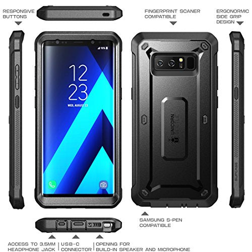 sports shoes b6d7a d5e5f Samsung Galaxy Note 8 Case, SUPCASE Full-body Rugged Holster Case with  Built-in Screen Protector for Galaxy Note 8 (2017 Release), Unicorn Beetle  ...