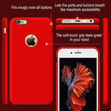 iPhone 6s Case, TORRAS [Love Series] Liquid Silicone Rubber iPhone 6 6S Shockproof Case with Soft Microfiber Cloth Cushion (4.7 inches)-Red