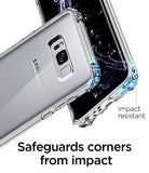 Spigen Crystal Shell Galaxy S8 Plus Case with Clear back panel and Reinforced Corners on TPU bumper for Galaxy S8 Plus (2017) - Clear Crystal
