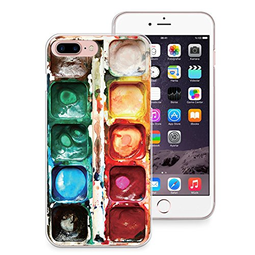 detailed look c67ef 915e6 iPhone 8 Plus Case, iPhone 7 Plus Case, CasesByLorraine Watercolor Paint  Box Slim Hard Plastic Back Cover for Apple iPhone 7 Plus & iPhone 8 Plus  (A23 ...