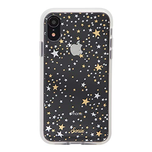 iPhone XR, Sonix Starry Night (Gold, Silver, Stars) Cell Phone Case [Military Drop Test Certified] Protective Clear Case for Apple iPhone (6.1