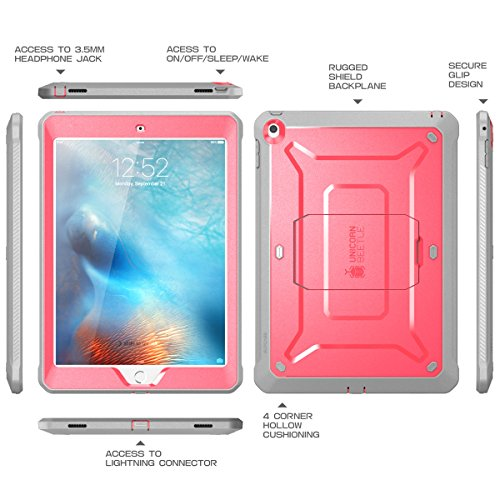 new product 27d72 7a3c5 iPad 9.7 2017 case, SUPCASE [Heavy Duty] [Unicorn Beetle PRO Series]  Full-body Rugged Protective Case with Built-in Screen Protector & Dual  Layer ...