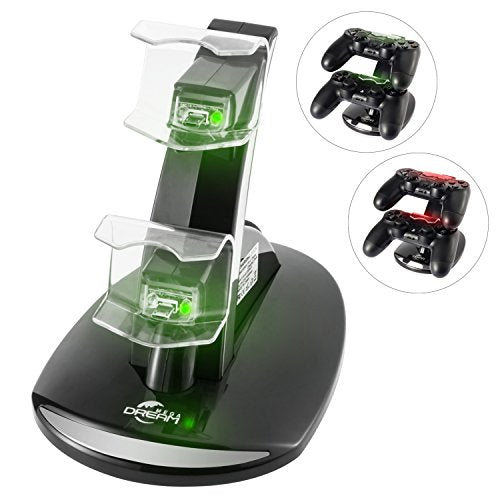 Megadream Dual USB Charging Charger Docking Station Stand for Playstation 4 PS4 / PS4 Pro / PS4 Slim Controller