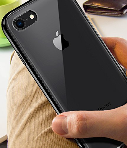 separation shoes b0e6a 77c85 Spigen Neo Hybrid Crystal [2nd Generation] iPhone 8 Case / iPhone 7 Case  with Clear Hard Casing and Reinforced Hard Bumper Frame for Apple iPhone 8  ...