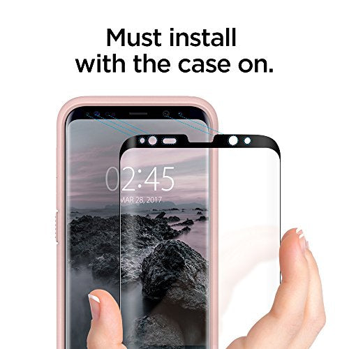 samsung galaxy s8 plus tempered glass case friendly