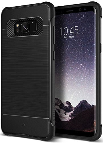 Galaxy S8 Case, Caseology [Vault I Series] Slim Heavy Duty Protection Shock Absorbing TPU Corner Cushion Design [Black] for Samsung Galaxy S8 (2017)
