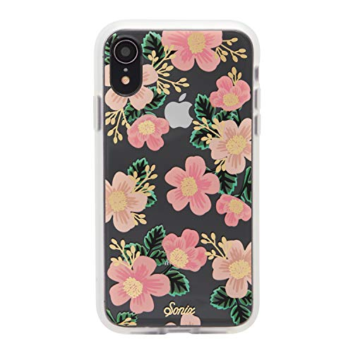 iPhone XR, Southern Floral (Pink Flowers) Cell Phone Case [Military Drop Test Certified] Women's Protective Clear Case for Apple iPhone (6.1