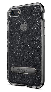 Spigen Crystal Hybrid iPhone 7 / iPhone 8 Case with Flexible Inner Casing and Reinforced Hard Bumper Frame for Apple iPhone 7 (2016) / iPhone 8 (2017) - Glitter Space Quartz