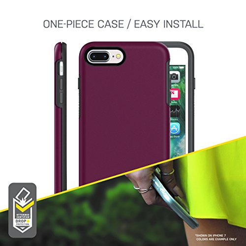 info for 46f02 112be OtterBox SYMMETRY SERIES Case for iPhone 8 Plus & iPhone 7 Plus (ONLY) -  Retail Packaging - FIREFLY (BLAZER BLUE/FIREFLY GRAPHIC)