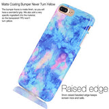 iPhone 7 Plus Case, Marble Creative Design, BAISRKE Slim Flexible Soft Silicone Bumper Shockproof Gel TPU Rubber Glossy Skin Cover Case for Apple iPhone 7 Plus 5.5 inch [Light Blue]