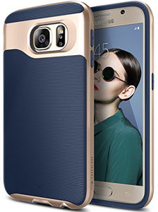 Galaxy S6 Case, Caseology [Wavelength Series] Slim Dual Layer Protective Textured Grip Corner Cushion Design [Navy Blue] for Samsung Galaxy S6