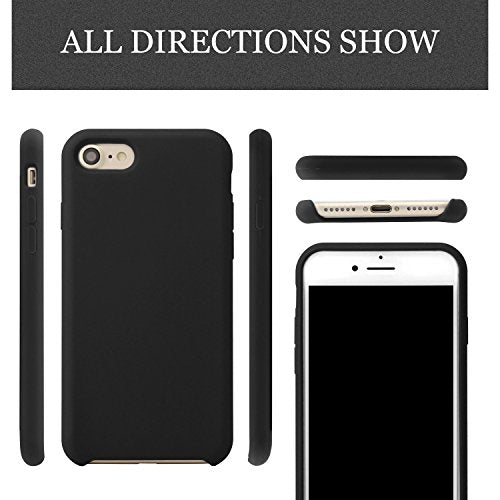 best authentic 5809a e78f6 iPhone 8 & iPhone 7 Silicone Case, LISI Silicone Gel Rubber Shockproof Cell  Phone Case with soft microfiber lining for Apple iPhone 7/8 4.7 inches ...