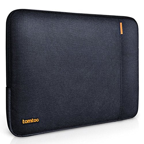 Tomtoc 360° Protective Sleeve for 15 Inch New MacBook Pro Retina with Touch Bar 2017 & 2016 (A1707), Shockproof, Spill-Resistant 15 Inch Laptop Bag Tablet Case, Black Blue