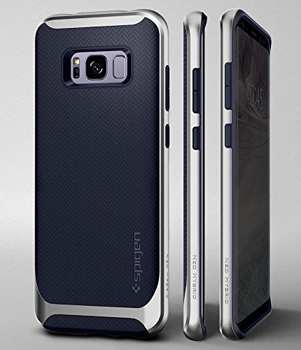 half off 6acb6 5ea66 Spigen Neo Hybrid Galaxy S8 Case Herringbone with Flexible Inner Protection  and Reinforced Hard Bumper Frame for Samsung Galaxy S8 (2017) - Arctic ...
