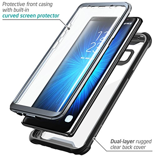 brand new 0fc3d 09132 Samsung Galaxy Note 8 case, i-Blason [Ares] Full-body Rugged Clear Bumper  Case with Built-in Screen Protector for Samsung Galaxy Note 8 2017 Release  ...